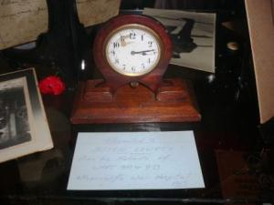 This clock in the collection of Quambi House Museum Stroud was a gift to Sister Lowrey from grateful patients of Wharncliffe War Hospital in Sheffield England.