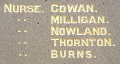 Detail of Muswellbrook Citizens' Memorial.  Photo:  A John Bramble