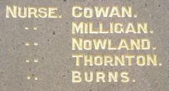 Detail of Muswellbrook Citizens' Memorial.  Photo:  A John Bramble