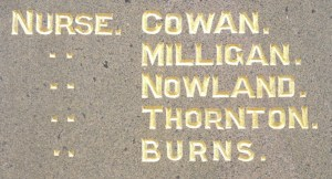 Detail of Muswellbrook Citizens' Memorial.  Photo:  A John Bramble 2010