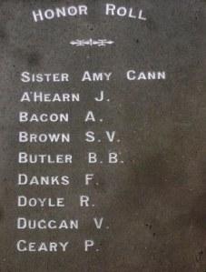 Detail of Paterson Citizens' Memorial.  Photo Christine Bramble