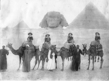 Amy Mathews, second from left, with nursing colleagues in Egypt.  Photo:  courtesy Peter Hooton.