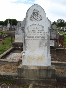 Headstone of Ida Moore nee Graham, Presbyterian section Inverell Cemetery. Image courtesy Ann Hodgens.