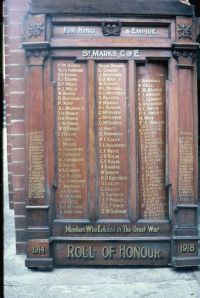 Honour Roll St Marks Anglican Church Islington 1985Photo: Courtesy Ed Tonks