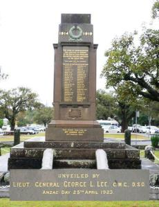East Maitland Citizens' Memorial and inset detail. Photo:  A John Bramble