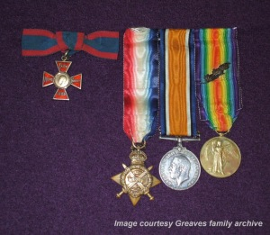 Medals of Matron Ida Greaves, RRC.  Photo courtesy Greaves family archive.