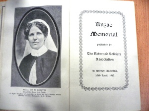 Pages of Anzac Memorial Book 1917 in the collection of Newcastle Public Library