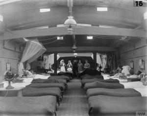 Ambulance barge First World War. Image courtesy Imperial War Museum Q 289926